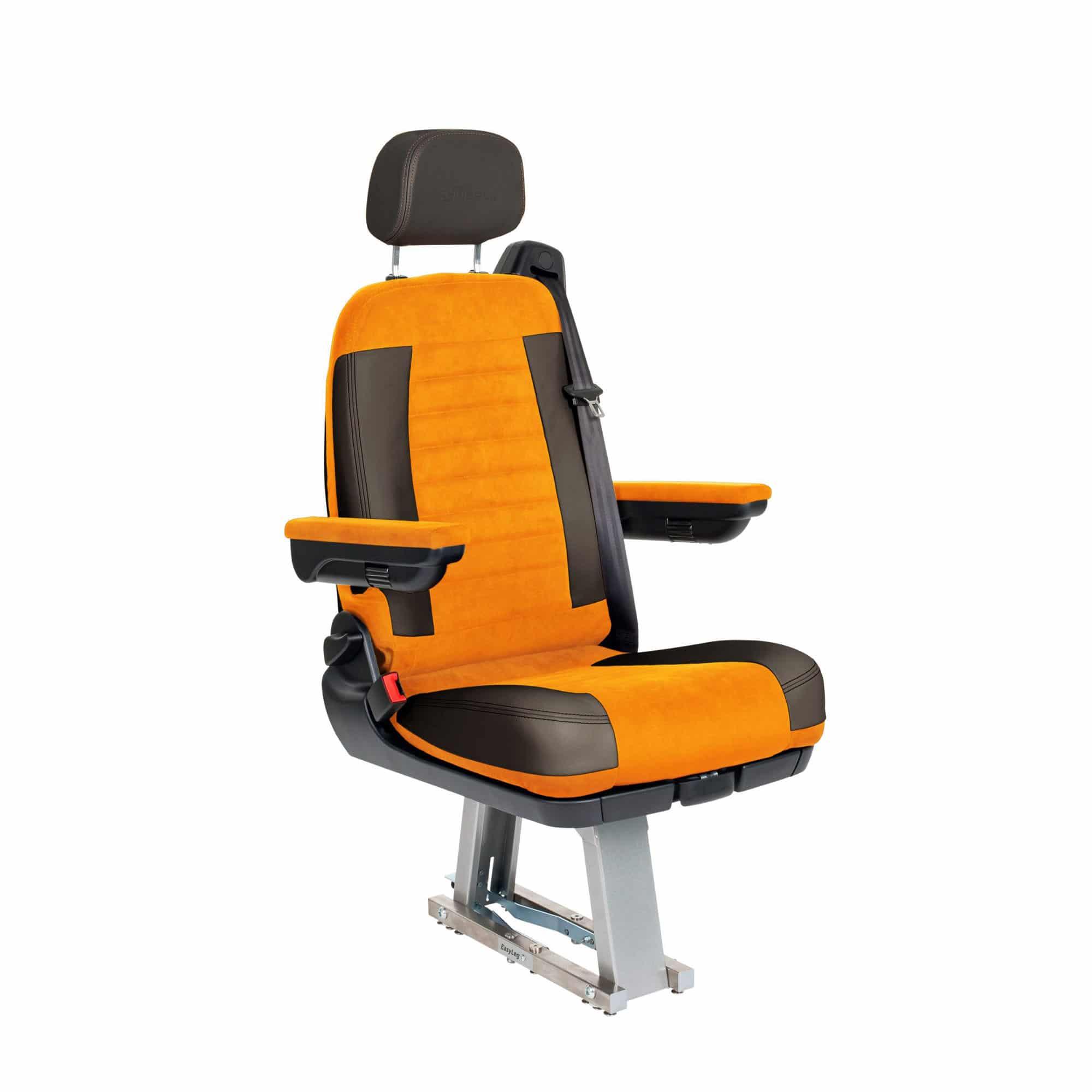 Black and orange seat